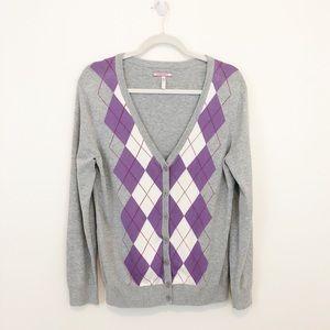 G.H. Bass & Co. Women's Cotton Argyle Sweater